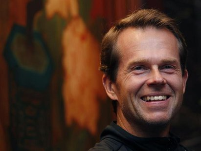 Sweden's Stefan Edberg attends a news conference for the upcoming Hong Kong Tennis Classic in Hong Kong January 3, 2011. REUTERS/Bobby Yip