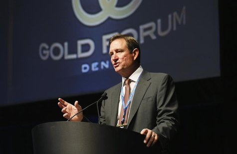 Chuck Jeannes, CEO of Goldcorp speaks at the Denver Gold Forum industry conference in Denver September 24, 2013. REUTERS/Rick Wilking