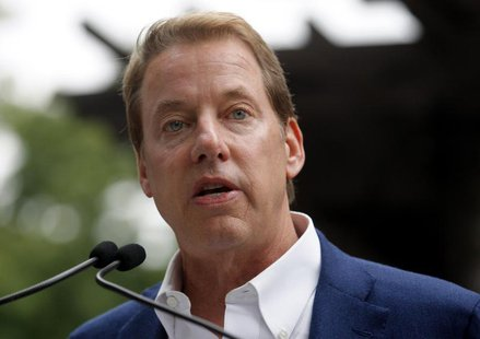 Executive Chairman of Ford Motor Co., Bill Ford Jr. addresses the public outside the Historic Ford Estate - Fairlane, once the home of his g