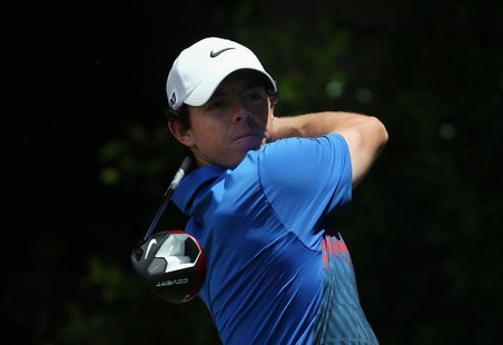 Northern Ireland's Rory McIlroy hits a shot on the seventh hole during the fourth round of the Australian Open golf tournament at Royal Sydn