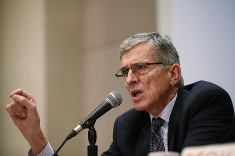 Federal Communications Commission (FCC) Chairman Thomas Wheeler speaks during a Town Hall meeting in Oakland, California January 9, 2014 REU
