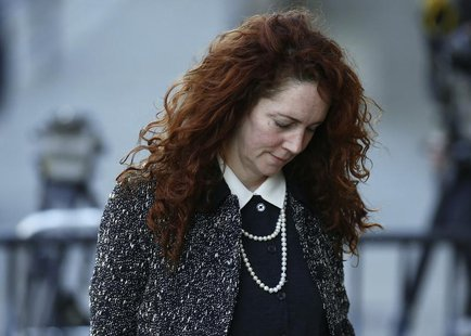 Former News International chief executive Rebekah Brooks arrives at the Old Bailey courthouse in London January 14, 2014. REUTERS/Andrew Win