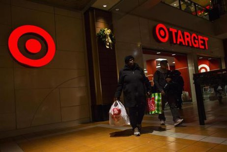 People shop at a Target store during Black Friday sales in the Brooklyn borough of New York, in this November 29, 2013, file photo.  CREDIT: REUTERS/ERIC THAYER/FILES