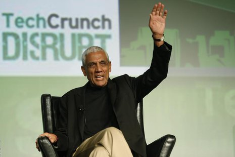 Khosla Ventures founder Vinod Khosla speaks on stage during TechCrunch Disrupt SF 2012 at the San Francisco Design Center Concourse in San F