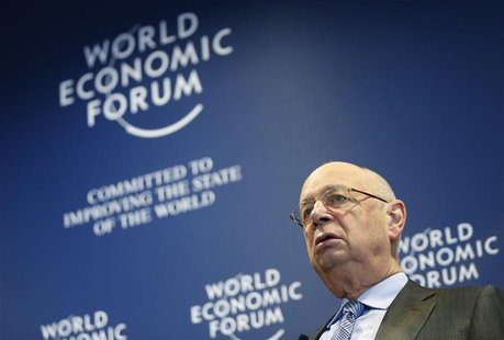 World Economic Forum (WEF) Executive Chairman and founder Klaus Schwab addresses a news conference in Cologny, near Geneva, January 15, 2014