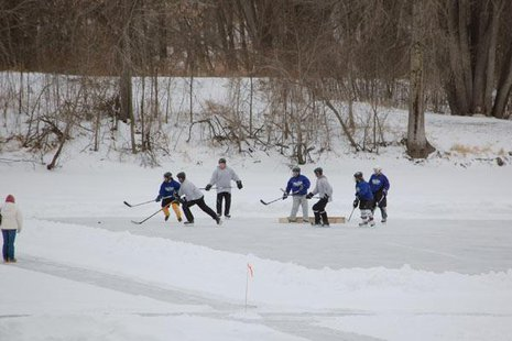 Pond Hockey tournament - Photo: Wausau Visitor and Convention Bureau Sports Authority