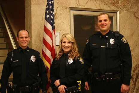 Wausau Police Department Officers Anthony Reince, Sarah Bedish, and Nate Stetzer      Photo:  Wausau Police Department
