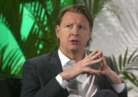 Hans Vestberg, president/CEO of Ericsson Group, speaks during a panel discussion at the 2014 International Consumer Electronics Show (CES) i