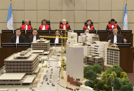 Judges (top row, L-R) Walid Akoum, Janet Nosworthy, David Re, Micheline Braidi and Nicola Lettier preside over the courtroom of the Special