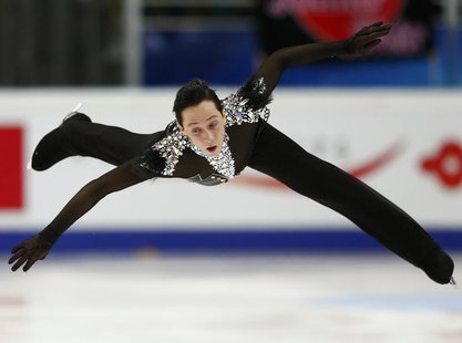 Johnny Weir of the U.S. performs during the men's short program at the ISU Grand Prix of Figure Skating Rostelecom Cup in Moscow, November 9