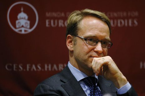 Jens Weidmann, president of the German Bundesbank and a member of the European Central Bank (ECB) Governing Council, speaks at the Center fo
