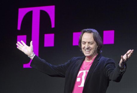 T-Mobile CEO John Legere speaks during a news conference at the 2014 International Consumer Electronics Show (CES) in Las Vegas, Nevada, Jan