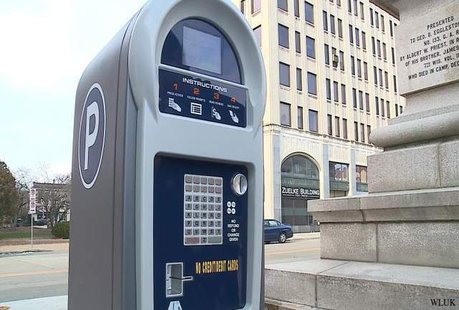 Parking pay station in downtown Appleton. (Photo from: FOX 11).