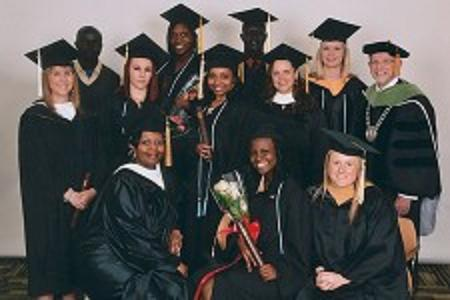 Seita Scholars and staff members with at the April 2013 commencement. Photo courtesy of the Seita Scholars program.