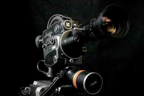A movie camera.