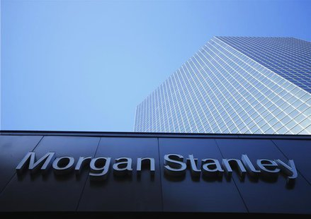 The corporate logo for financial firm Morgan Stanley is pictured on a building in San Diego, California September 24, 2013. REUTERS/Mike Bla
