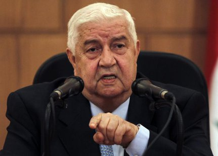 Syria's Foreign Minister Walid al-Moualem speaks during a news conference in Damascus June 24, 2013. REUTERS/Khaled al-Hariri
