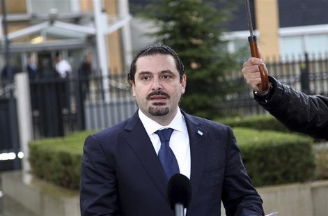 Former Lebanon's Prime Minister Saad Hariri is seen at the Special Tribunal for Lebanon in The Hague January 16, 2014. REUTERS/Dalati Nohra/