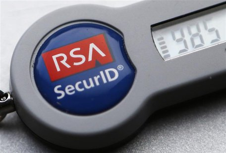 An RSA SecurID dongle used for internet VPN tunnelling is seen in Toronto in this file photo from December 18, 2013. REUTERS/Chris Helgren/F
