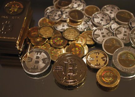 Some of Bitcoin enthusiast Mike Caldwell's coins are pictured at his office in Sandy, Utah, September 17, 2013. REUTERS/Jim Urquhart