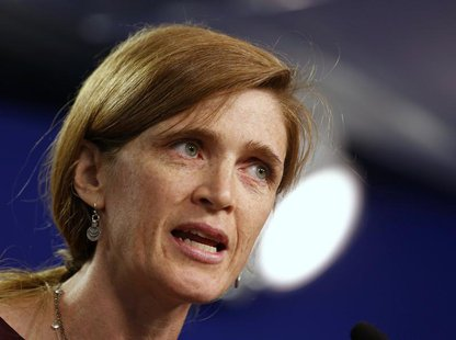 U.S. Ambassador to the United Nations Samantha Power speaks in Washington, September 6, 2013. REUTERS/Larry Downing (UNITED STATES - Tags: P