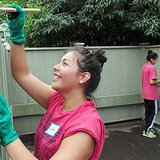 """Hope students volunteering in the community during a """"Time to Serve."""" (photo courtesy Hope College)"""