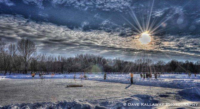 Pretty day on Mad Made Lake..hockey rinks fill the lake this weekend....