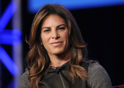 "Trainer Jillian Michaels takes part in a panel discussion of NBC Universal's show ""The Biggest Loser"" during the 2013 Winter Press Tour for"