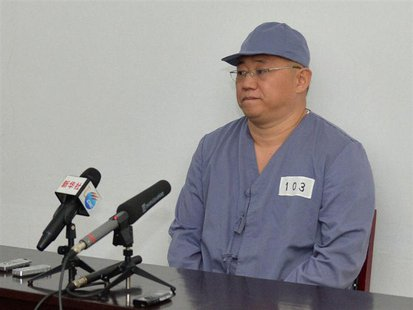 Kenneth Bae, a Korean-American Christian missionary who has been detained in North Korea for more than a year, meets a limited number of med