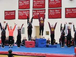 Coldwater gymnastics at Lowell Invitational 1-18-14