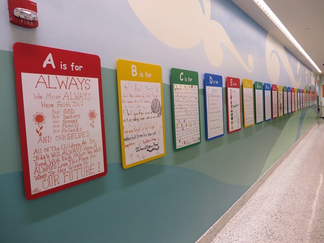 Alphabet wall of Cancer