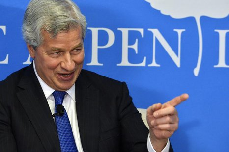 "JPMorgan Chase Chairman and CEO Jamie Dimon speaks during a discussion on ""Closing the Workforce Skills Gap"", at the Aspen Institute in Wash"