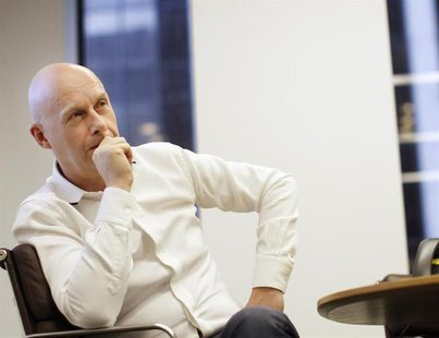 CEO of Dow Jones, Lex Fenwick speaks during an interview in his New York offices July 20, 2012. REUTERS/Brendan McDermid