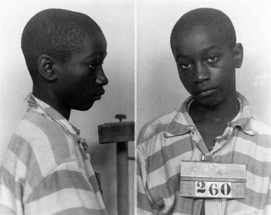 George Stinney Jr appears in an undated police booking photo provided by the South Carolina Department of Archives and History. REUTERS/Sout