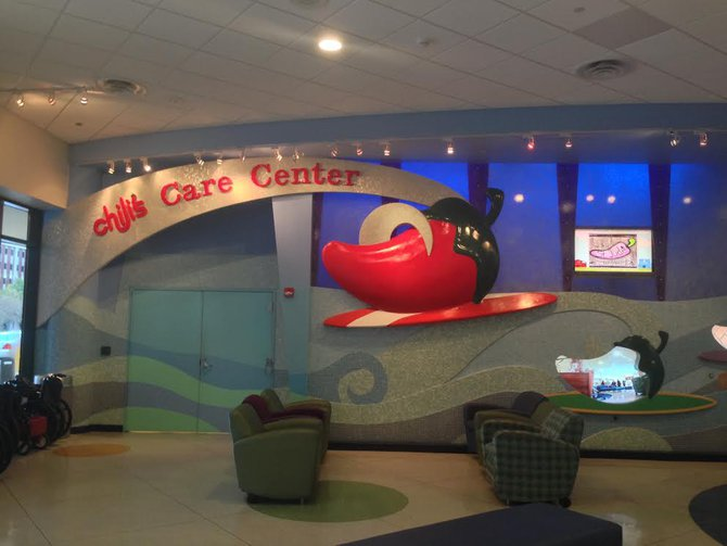 The Chili's Care Center is one of the most advanced buildings in the country for pediatric cancer treatment.