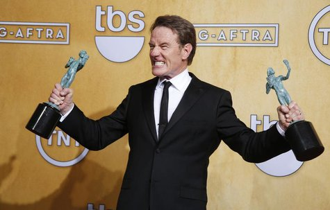 "Bryan Cranston winner of the Outstanding Performance by a Male Actor in a Drama Series award for his role in ""Breaking Bad"" poses for photo"