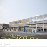 Pictured is an architectural rendering of the front facade of the proposed Broadway Walmart store, submitted to the city on January 6, 2013. (Photo from Walmart)