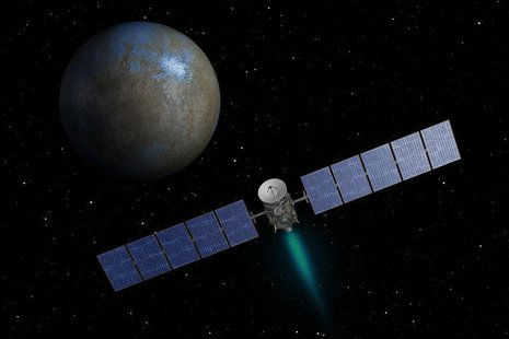 NASA's Dawn spacecraft heads toward the dwarf planet Ceres as seen in this undated artist's conception released January 22, 2014. REUTERS/NA