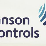 The logo of the U.S. Johnson Controls company is seen in Nersac, southwestern France, January 31, 2008. REUTERS/Regis Duvignau