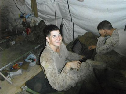Lance Cpl. David P. Fenn II, 20, of Polk City, Florida is pictured in this undated handout photo courtesy of U.S. Marines. REUTERS/U.S. Mari
