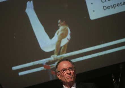 President of Brazil's Olympic Committee Carlos Arthur Nuzman attends a conference on the budget for the Rio 2016 Olympic and Paralympic Game