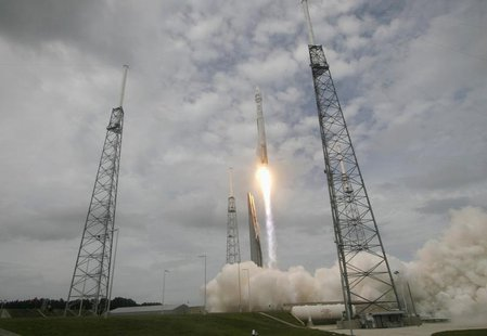 An Atlas 5 United Launch Alliance rocket lifts off from the Cape Canaveral Air Force Station carrying NASA's Mars Atmosphere and Volatile Ev