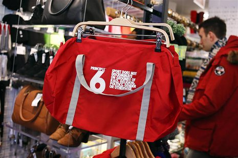 A Principle 6 bag is seen inside an American Apparel store in New York, January 23, 2014. REUTERS/Shannon Stapleton