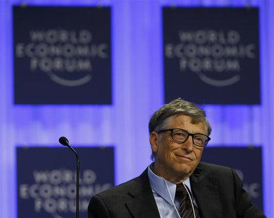 Microsoft founder Bill Gates attends a session at the annual meeting of the World Economic Forum (WEF) in Davos January 24, 2014. REUTERS/De