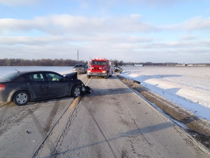 01-23 southern Vigo County accident scene  pic 1 provided by Indiana State Police