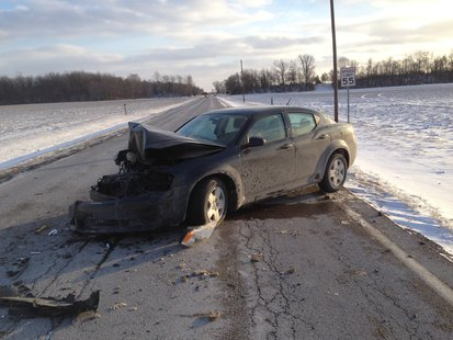 01-23 southern Vigo County accident scene  pic 2 provided by Indiana State Police