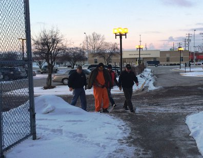 Clinton Mackey being taken to Vigo County Court pic 2 provided by Vigo County Sheriff