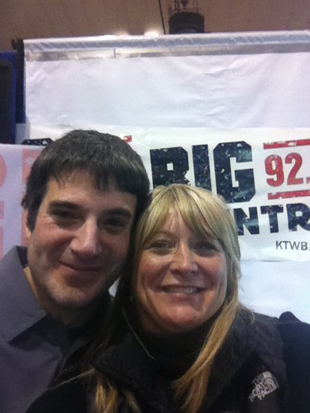 Robbie Owens from KTWB and his new friend Sara