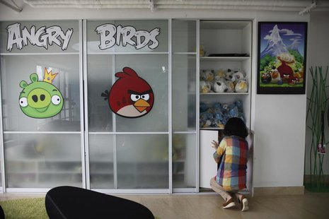 An employee works inside an office of Rovio, the company which created the video game Angry Birds, in Shanghai June 20, 2012. REUTERS/Aly So