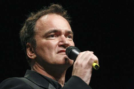 U.S. director Quentin Tarantino speaks before receiving the Prix Lumiere during a ceremony at the Lumiere 2013 Grand Lyon Film Festival in L